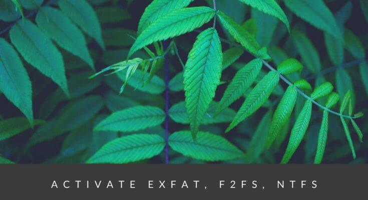 How to activate exFAT, F2FS, NTFS on Redmi 4
