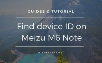Find device ID on Meizu M6Note